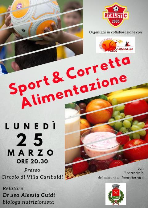 Sport e corretta alimentazione