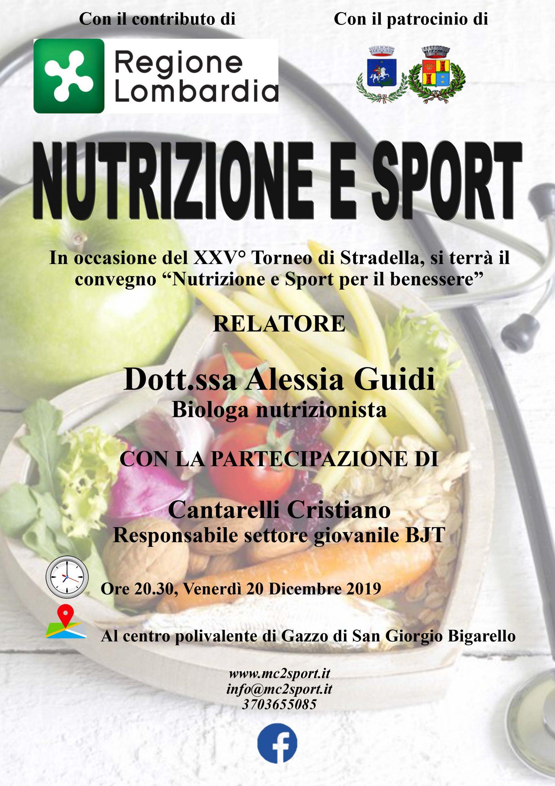 Nutrizione e sport per il benessere