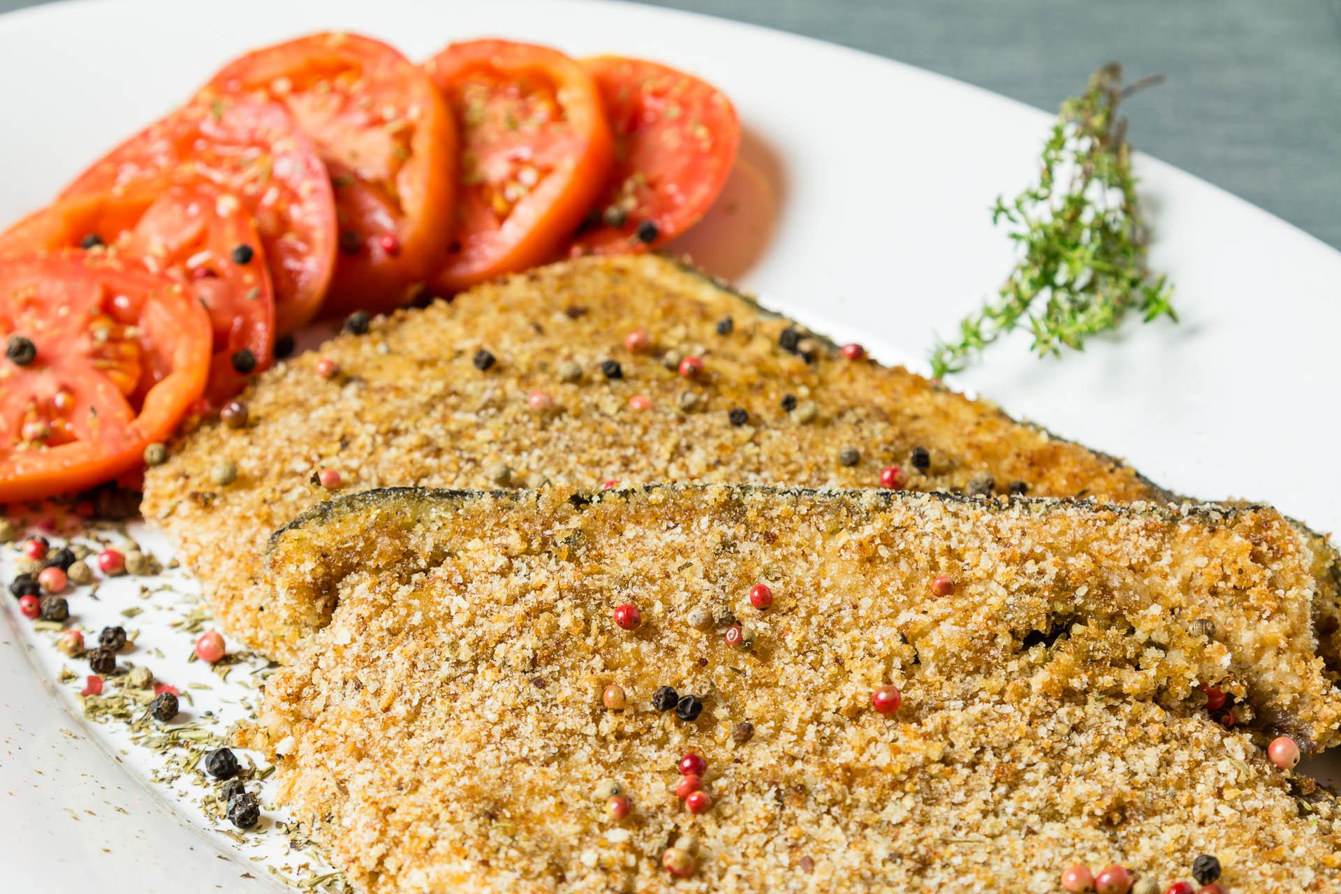 Bistecche di pesce spada in crosta