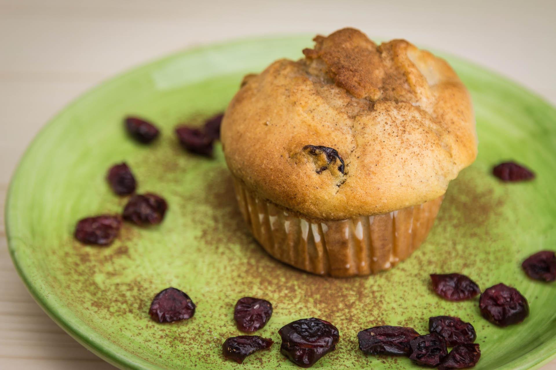 Muffins mele e mirtilli rossi